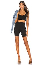 superdown Isabel Biker Short Set in Black