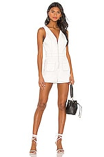 superdown Jennifer Zip Front Romper in White