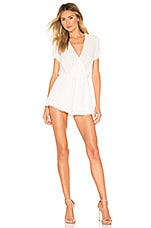 superdown Melissa Surplice Romper in White