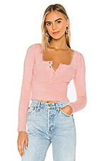 superdown Clare Long Sleeve Top in Pink