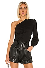 superdown Preston One Shoulder Top in Black