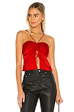 superdown Dina Slit Front Top in Cherry