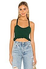 superdown Karen Knit Top in Emerald