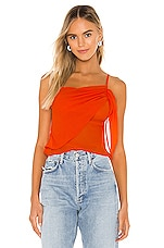 superdown Abbey Ruched Cami Top in Poppy