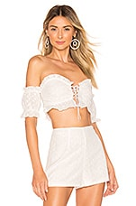 superdown x REVOLVE Lilly Eyelet Top in White
