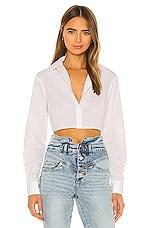 superdown Carol Crop Button Up in White