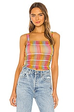 superdown Lo Ruched Top in Multi