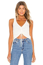 superdown Khloe Ruched Knit Top in White