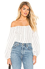 superdown Kaylee Button Up Top in White & Black
