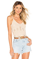 superdown Effie Crochet Top in Nude
