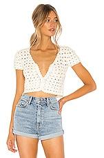 superdown Jeanette Crochet Crop Top in Cream