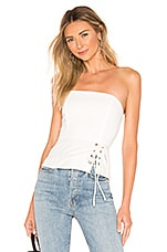 superdown Joyce Side Lace Top in Ivory