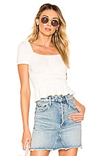 superdown Dani Ruched Top in White
