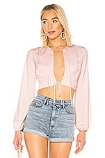 superdown Esther Cut Out Top in Blush