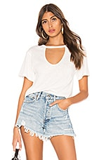 superdown Chaira Cut Out Tee in White