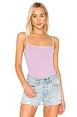 superdown Laurise Cami Bodysuit in Lavender & White