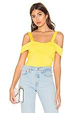 superdown Evie Off Shoulder Bodysuit in Yellow