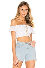 superdown Stella Lace Up Top in White