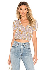 superdown Sirena Crop Top in Lavender Floral