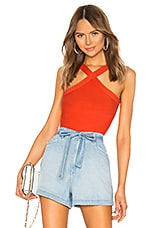 superdown Elaina Cross Front Top in Poppy