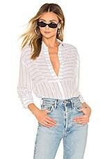 superdown Navea Shirt in White Stripe