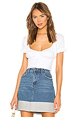 superdown Gabbie Ruched Top in White