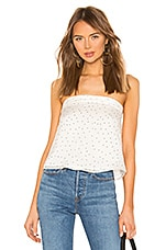 superdown Bridgette Tie Back Top in Cream & Black