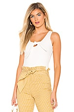 superdown Tricia Front Knot Tank in White