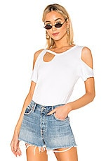 superdown Kambria Cut Out Tee in White
