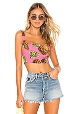 superdown Lucia Crop Top in Pink Pineapple