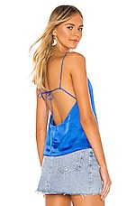 superdown Arinn Tie Back Top in Blue