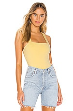 superdown Kamari V-Back Bodysuit in Yellow
