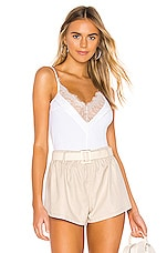 superdown Devon Lace Front Bodysuit in White