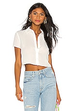 superdown Cindy Button Up Top in White