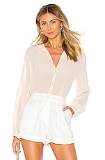 superdown Staci Button Up Top in Cream