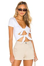 superdown Britney Double Bow Top in White