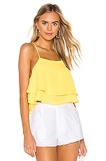 superdown Sophia Double Layer Top in Yellow