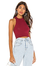 superdown Joelle O Ring Top in Burgundy