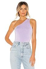superdown Devonne One Shoulder Bodysuit in Lavender