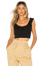 superdown Stacie Ruffle Top in Black