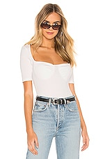 superdown Sandy Ribbed Top in White