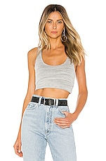 superdown Cassie Crop Knit Top in Heather Grey