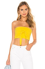 superdown Marina Cropped Tube Top in Yellow
