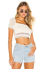superdown Imani Crochet Crop Top in White