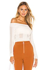 superdown Dalia Off Shoulder Top in Ivory