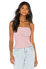 superdown Sophy Strapless Top in Blush