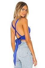 superdown Stassia Tie Back Top in Royal Blue