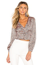 superdown Kamry Top in Pink Leopard