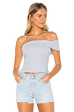 superdown Caitlyn Twist Front Top in Light Blue