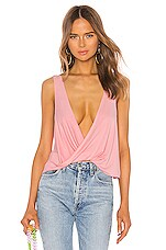 superdown Tracey Draped Top in Blush